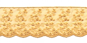 Äärepits laiusega 6,2cm D44-4028, kuldkollane 3A