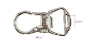 Karabiinihaka, jousilukko, 60 mm x 30 mm, reikä nauhalle leveydella max 12 mm, SHX1C