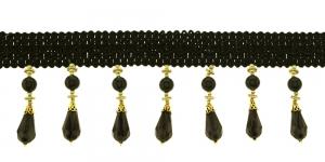 Pärlitega narmaspael / TK-618 / Värv nr. PE-56, must kuldsega