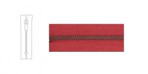 3488OX, 4mm hammastikuga metall-tõmblukk pikkusega 21cm-22cm, vaarikapunane, antiikpronks hammastikuga