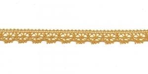 Puuvillane pits 3247-62 laiusega 1,5 cm, värv rohekaskollane