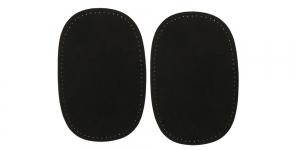 Triigitavad ehk kuumkinnituvad veluurpaigad, 2 tk, 10 cm x 15 cm, Pronty, mustad 090