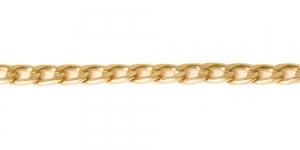 MA146 11 x 6,8 x 2 mm Matt kuldne Alumiiniumkett