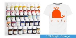 Värvid kanga värvimiseks pintsli, tampooni jms abil Vielo Fabric Paint, 50 ml, Värv: erk oranž, #109 Bright Orange