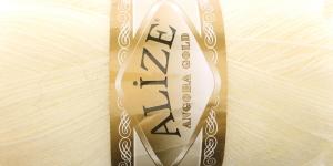 Villasisaldusega lõng Alize Angora Gold, värv 01 kollakasvalge