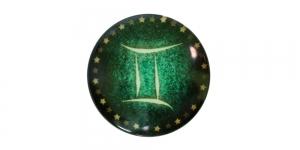 25mm Rohelisekirju dekoraatiivkivi, Kaksikud/Gemini, KM156-G