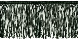 Lihtsad pikad narmad pikkusega 15 cm, värv must, 10