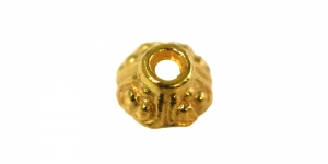 Vahedetail Kuldne, Golden Bead Cap, 6mm, EH99