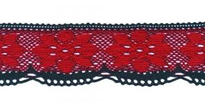 Jõuluvärviline servapits D031-56, Värv Punane rohelisega