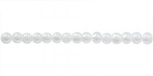 Valge pärlmutter ümar plasthelmes, 4mm, BI31
