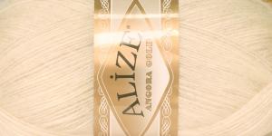 Mohäärisisaldusega lõng Alize Angora Gold, värv 213 Kreemjasbeež