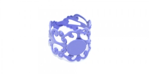 Helelilla Sõrmusetoorik / Light Purple Lacey Finger Ring Base / 21mm / EA7a