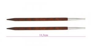 Roosipuust neljakandiliste ringvarraste Cubics vahetusotsikud, Nr.6,0, KnitPro 25405