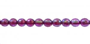 AI7 6mm Tumelilla AB-läikega läbipaistev tahuline akrüülkristall