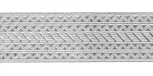 Sissekootud mustriga metallikpael Art.8031/551065, 6,5cm, hõbedane