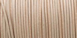 Nahkanyöri, aitoa nahkaa, väri: natural, ø 2 mm, CF06.201