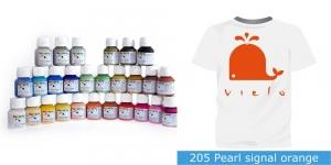 Pärlmuttervärv kanga värvimiseks, Fabric Paint Pearl, 50 ml, Vielo, Värv: oranž, #205 Pearl signal orange