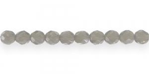 LN592 Ümar tahuline klaaspärl, Tšehhi, 8mm, Helehall piimjas