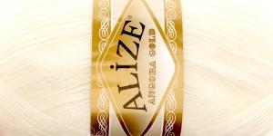 Mohäärisisaldusega lõng Alize Angora Gold, värv 62 kreemjasvalge