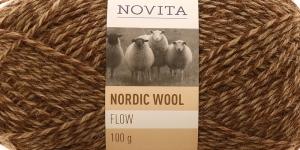 Täisvillane lõng Nordic Wool Flow, Novita, Värv 68, pruuni-beeži kirju