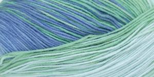 Puuvillasisaldusega pehme lõng, Cotton Gold Batik Design; Värv 4532 (Sinine-roheline-heleroheline) / Alize