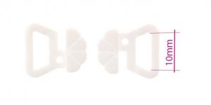 UD2, Rinnahoidja plastkinnis 10mm paelale, valge
