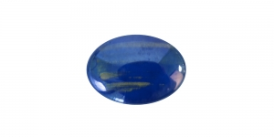 KM131 18x13x4mm Sinine, lameda põhjaga klaashelmes