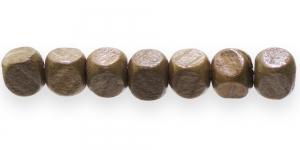 IM29 10x10mm Helepruun naturaalne puidutooni piklik puithelmes