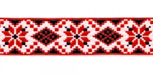 Ribbon, Art.35944, color No.White-Red