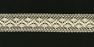 Puuvillane pits 3995-02 laiusega 3 cm, värv kreemjasvalge