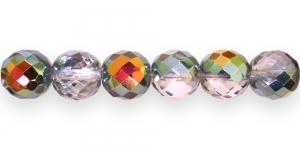 Ümar tahuline klaaspärl, Tšehhi, 14mm, Hõbehall, 1/3 AB kattega, LH6