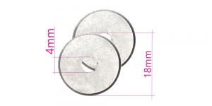 Сменное лезвие, запасные лезвия для нож раскройный, нож дисковый ø18 мм, 2 шт, X`sor DW-RB018P