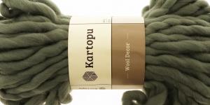 Villane viltimisheie-lõng Wool Decor 200g, 30m, Kartopu, värv K1402, hallikasroheline