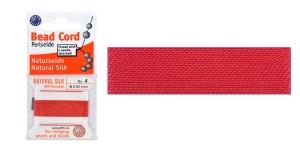 100% siidist niit, Nr.4; ø0,60 mm, 2 m, värv: punane, JH04S-REDXX-C