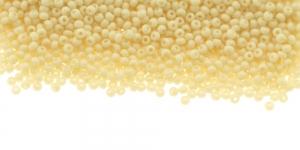HC52 Tšehhi Preciosa terahelmed, Nr.11 (2-2.2mm), Kreemjaskollased läbipaistmatud terahelmed