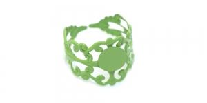 Roheline Sõrmusetoorik / Green Lacey Finger Ring Base / 21mm / EA7a