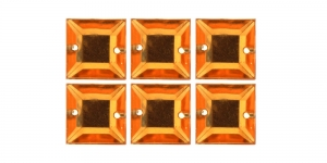 WH43 12mm Oranžid õmmeldavad kristallid, 6tk