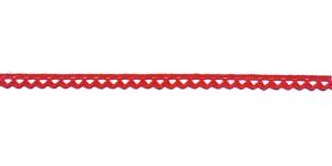 Puuvillane pits 3840-07 laiusega 1 cm, värv punane