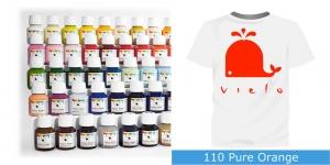 Fabric Paint Vielo, 50 ml #110 Pure Orange