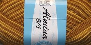 Puuvillane lõng Almina; Värv 172 (Kollaste ja pruunide toonide kirju) / Madame Tricote