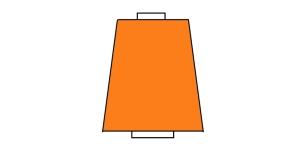 Peenike tekstureeritud niit, 10.000 m, Nr.180, Polytex, Värv: heledam oranž 222