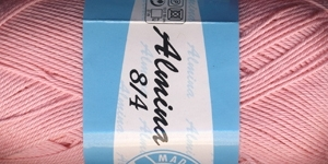 Puuvillane lõng Almina; Värv 6313 (Roosa) / Madame Tricote