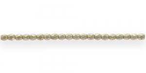 LA8 Ümar tahuline klaaspärl, Tšehhi, 3mm, Kollakashall läbipaistmatu