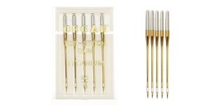 Titanium covered Topstich Needles for Home Sewing Machines, Organ No.90 (12)