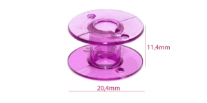 Plastic Bobbin for Home Sewing Machines purple