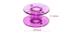 Стандартная пластиковая шпулька (для шпульного колпачка с ушком) фиолетовая