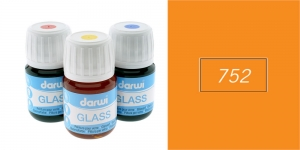 Klaasivärv Darwi Glass, 30ml, ORANGE 752