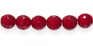 Ümar tahuline klaaspärl, Tšehhi, 16mm, Punane läbipaistev, LI9