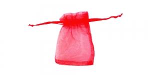 Punane läbipaistev kinkekott, 9 x 7cm, PA33A