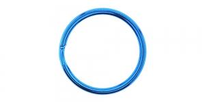 Kõrgläikega värvilised topelt metallrõngas, võtmerõngas ø30 mm, SHV27, KL0885, Sinine